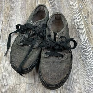 Vans Lace Up Sneakers Black Gray Size 12